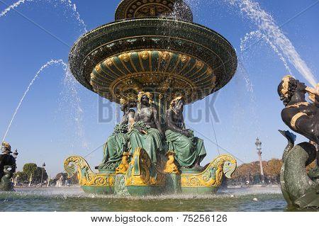 Fountain Des Fleuves, Concorde Square, Paris, Ile De France, France