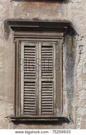 Window In The City Of Bergamo, Lombardy, Italy