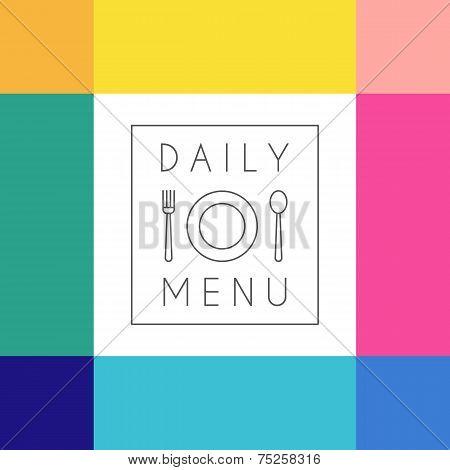 Daily menu design template.