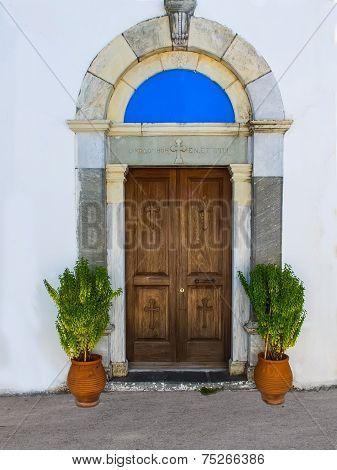 Door Of A Greek Church