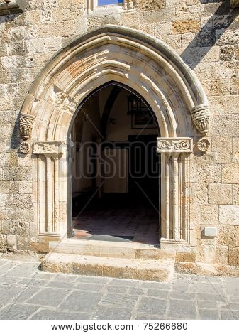 Medieval Stone Arch Entrance