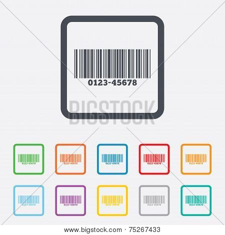Bar code sign icon. Scan code symbol.