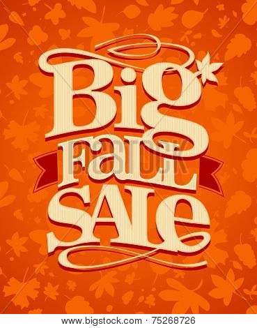 Big fall sale vintage design.