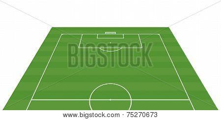 Football Field 3-d Background - Vector Illustration