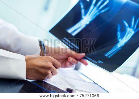 Medical Practitioner Writing Prescription.