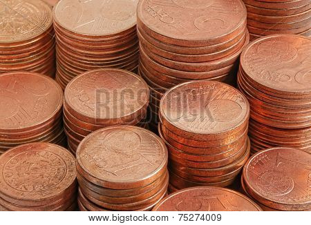 Close Up Coins Money