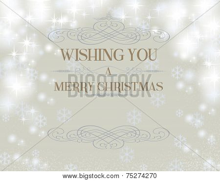 Wishing You With Snowflakes