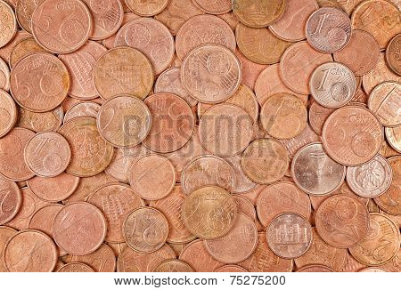 Closeup Of Coins Group