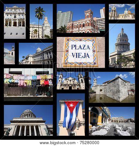 Havana Cuba Collage
