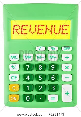 Calculator With Revenue On Display