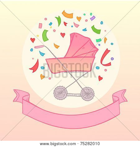 Hand drawn illustration - Buggy. Vector