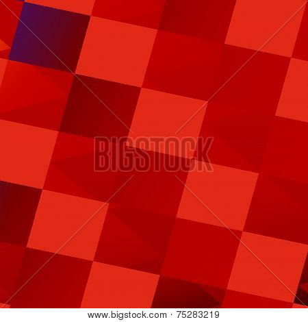 Abstract Red Bathroom Tiles - Tile Art Background