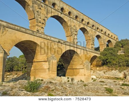 Perspective View of Pont du Gard