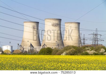 Electricity Power Station Cooling Towers