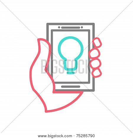 Mobile phone with idea