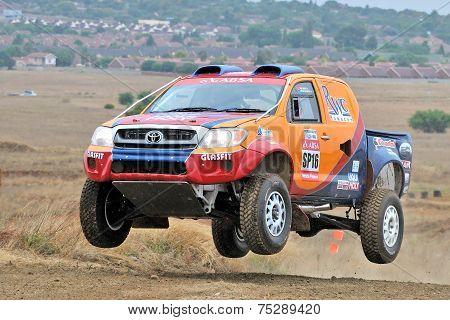 Racing airborne Truck