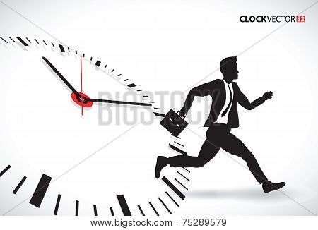 business man beating the clock