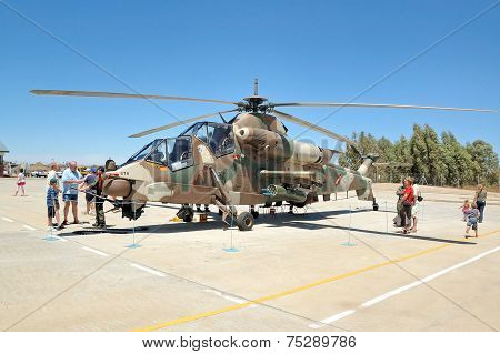 Rooivalk Attack Helicopter, Bloemfontein, South Africa.