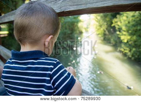 Child On A Bridge