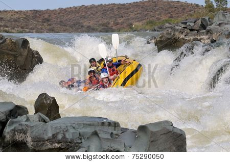 Negotiating Hell's Gate In The Gariep River (orange River), South Africa