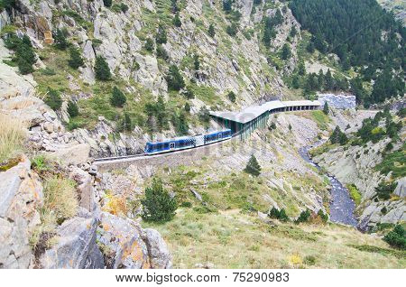 Rack Railway Of Vall De Nuria, Spain
