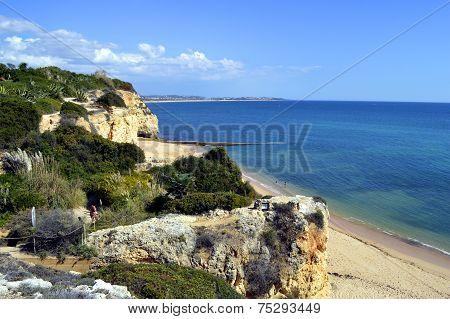 Cova Redonda Beach Armacao De Pera Algarve Portugal