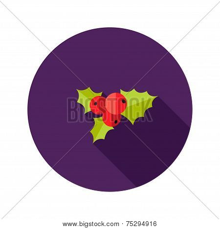 Christmas Rowanberry Flat Icon