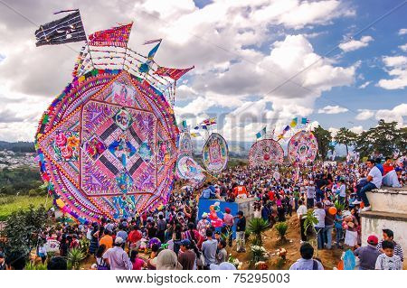 Giant Kites & Crowded Cemetery, All Saints' Day, Guatemala
