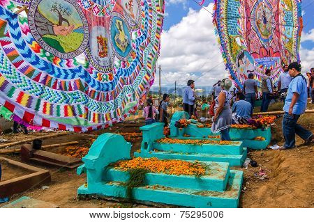 Giant Kites & Graves, All Saints' Day, Guatemala