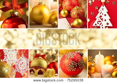 Christmas Decorations, Border - Background with copy space, Big Size