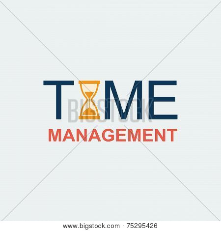 Flat Time Management Background