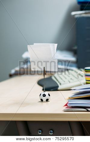 Note Holder With Soccer Ball