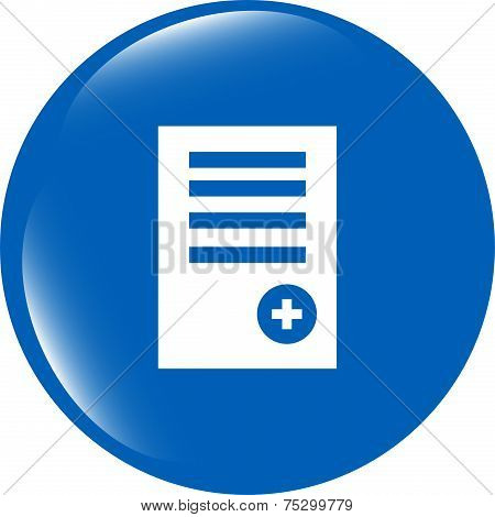 Text File Sign Icon. Add File Document Symbol. Modern Ui Website