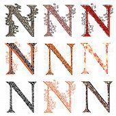 stock photo of fishnet  - Set of variations fishnet  - JPG