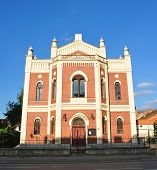 stock photo of sibiu  - synagogue building sibiu city romania architecture landmark - JPG