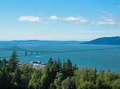 pic of coxcomb  - A View of Astoria Oregon from Coxcomb Hill the Location of the Astoria Column - JPG