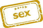 image of pornographic  - sex Rubber Stamp over a white background - JPG