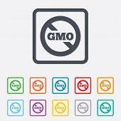 foto of modifier  - No GMO sign icon - JPG