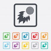 stock photo of fireball  - Golf fireball sign icon - JPG