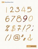 pic of arabic numerals  - Vector handwritten arabic numerals set - JPG