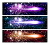 picture of outer  - An outer space banners with sky - JPG