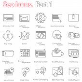 stock photo of submissive  - seo icons set part 1 - JPG
