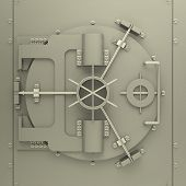 foto of bank vault  - 3d generated picture of a bank vault - JPG