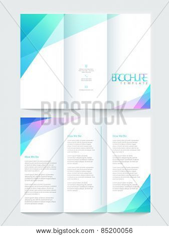 Shiny Tri Fold brochure, template or flyer design, Including front and back pages for your corporate need.