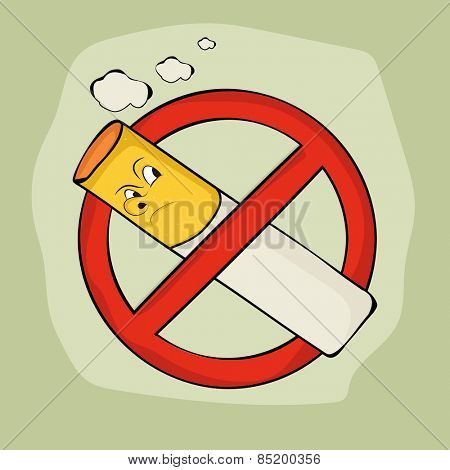 Anti smoking sign and symbol on stylish background for No Smoking Day.