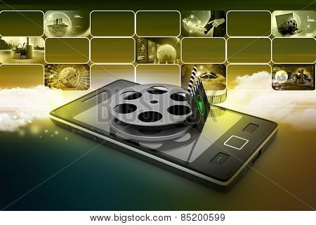 Smart phone with reel