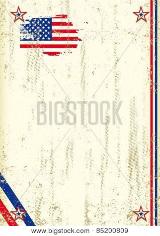 US retro background. A vintage background with a flag of  USA and a texture for your advertising