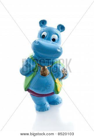 Brinquedo de hipopótamo