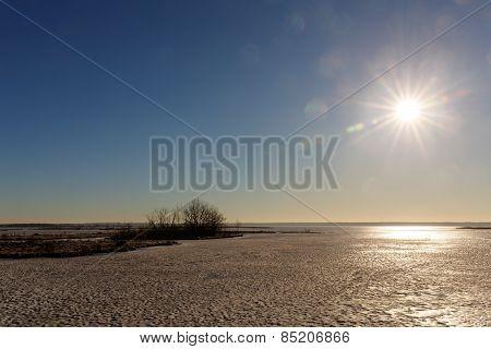 Sun Over The Lake