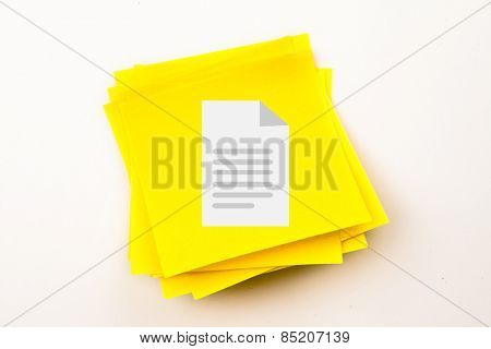 Document against sticky note
